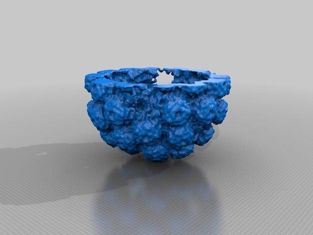 Simian Virus 40猿猴病毒模型3D打印图纸 STL格式