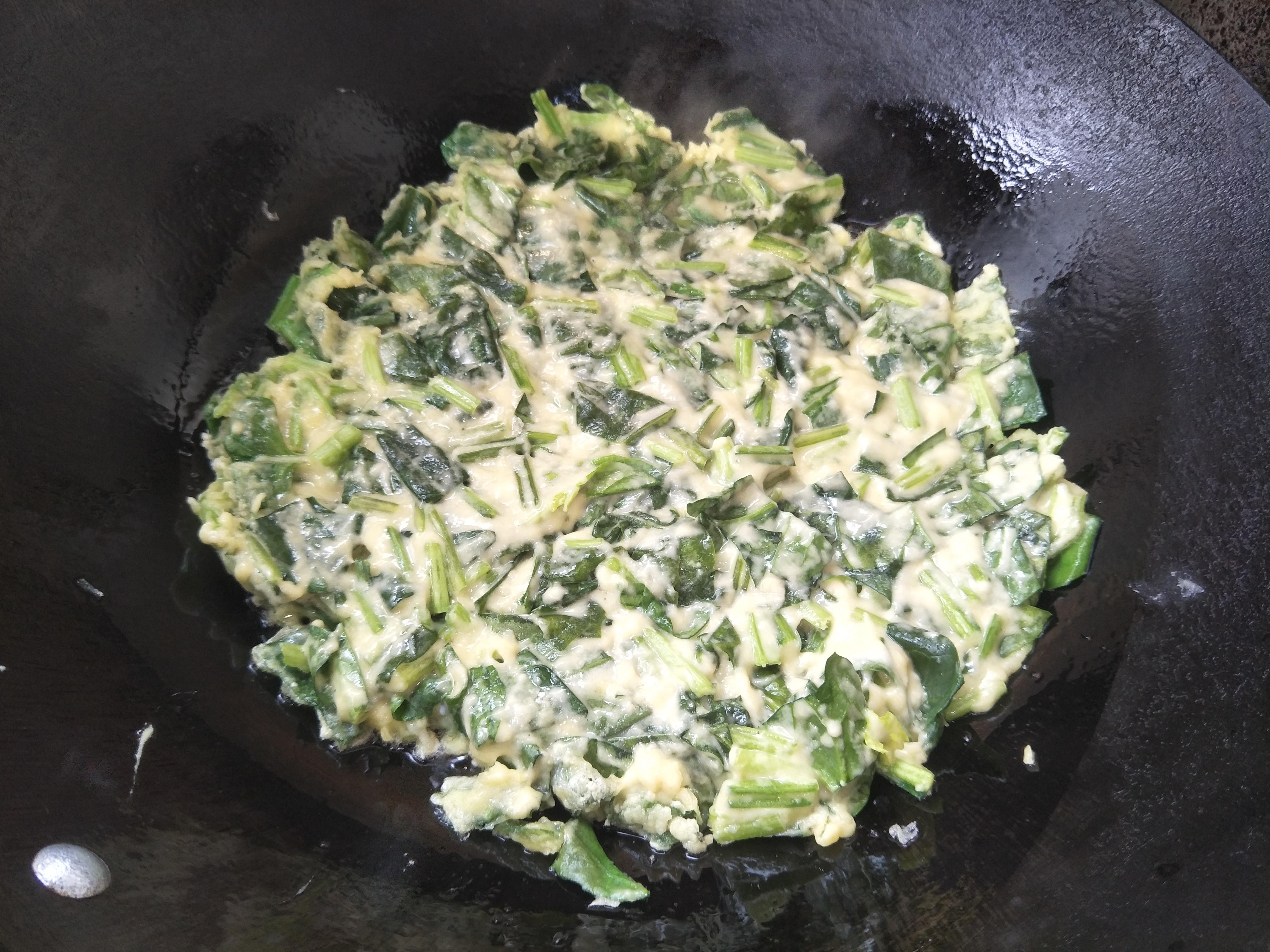 1把菠菜,2个鸡蛋,简单烹饪,上桌口感香浓,太好吃了 厨房烹饪 第8张
