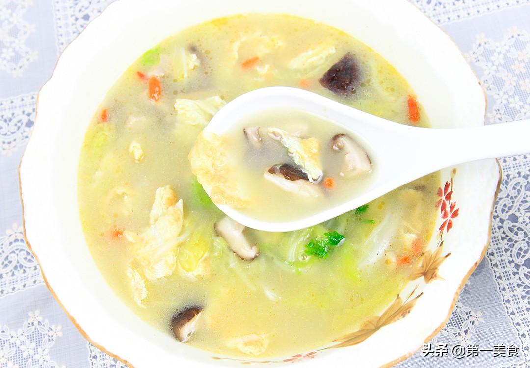 【香菇白菜汤】做法步骤图 清淡养胃 喝两碗都不过瘾