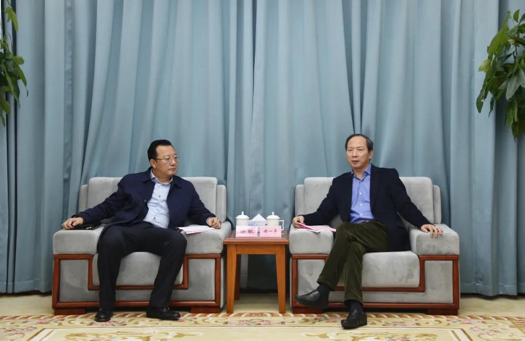 谢一平会见了中国信用保险江西分公司总经理罗旭一行