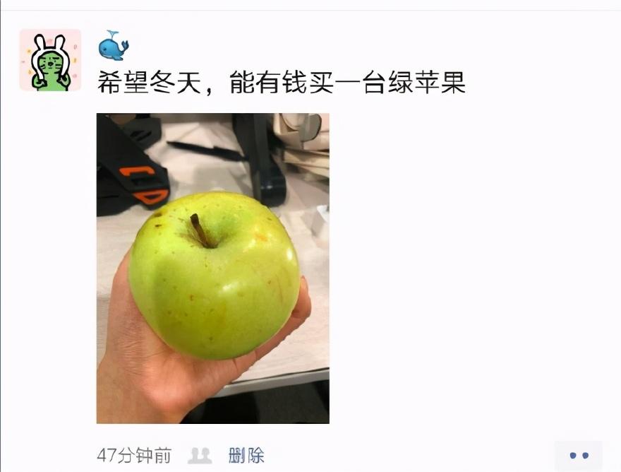 继秋天的第一杯奶茶之后,冬天的第一个苹果来了