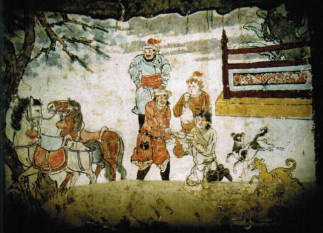 """陕西神秘蒙古墓造型""""多元"""",墓中壁画历经700年,鲜艳夺目"""