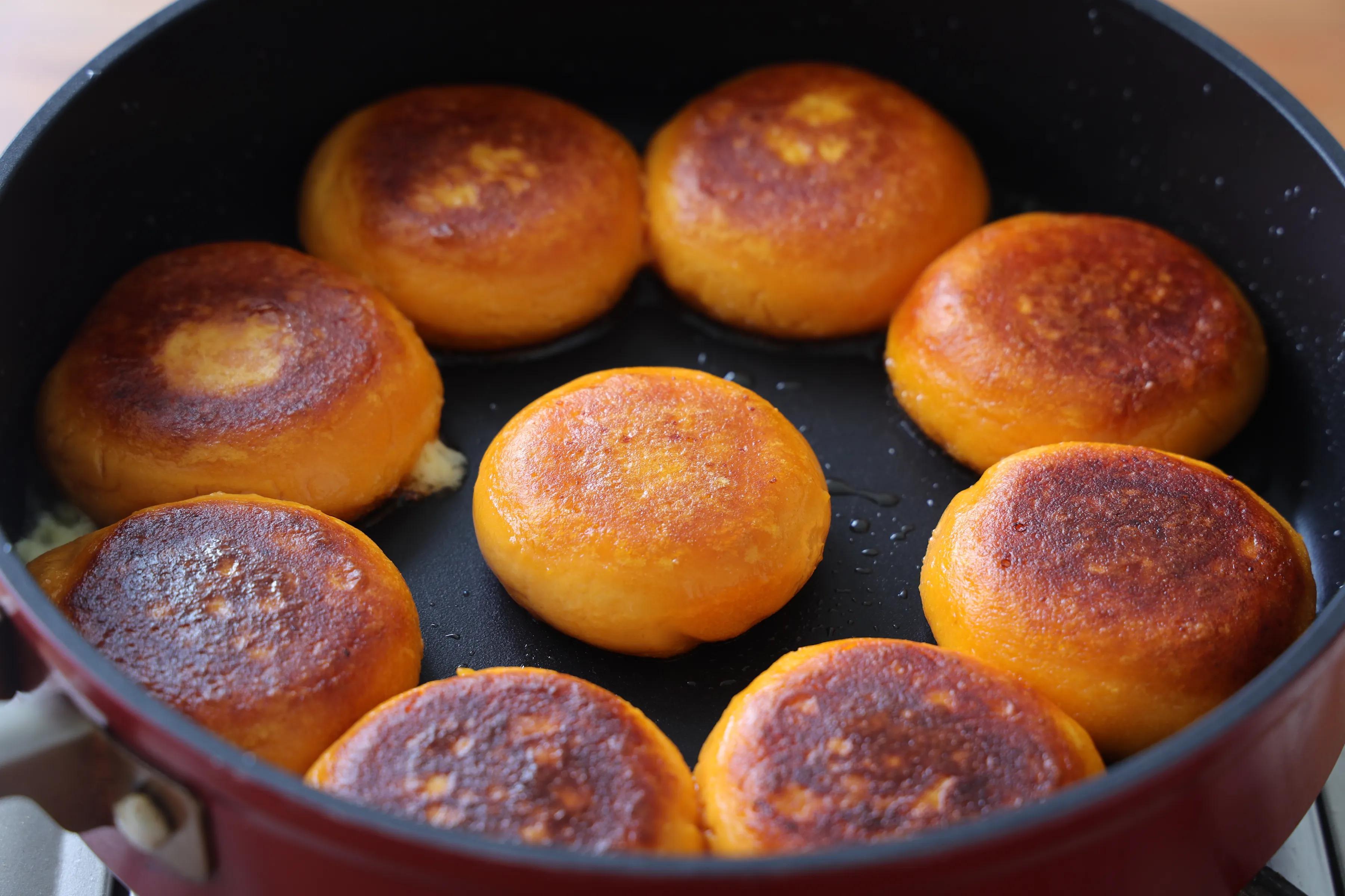 爆浆的红薯芝士饼,咬一口柔软又拉丝 美食做法 第6张