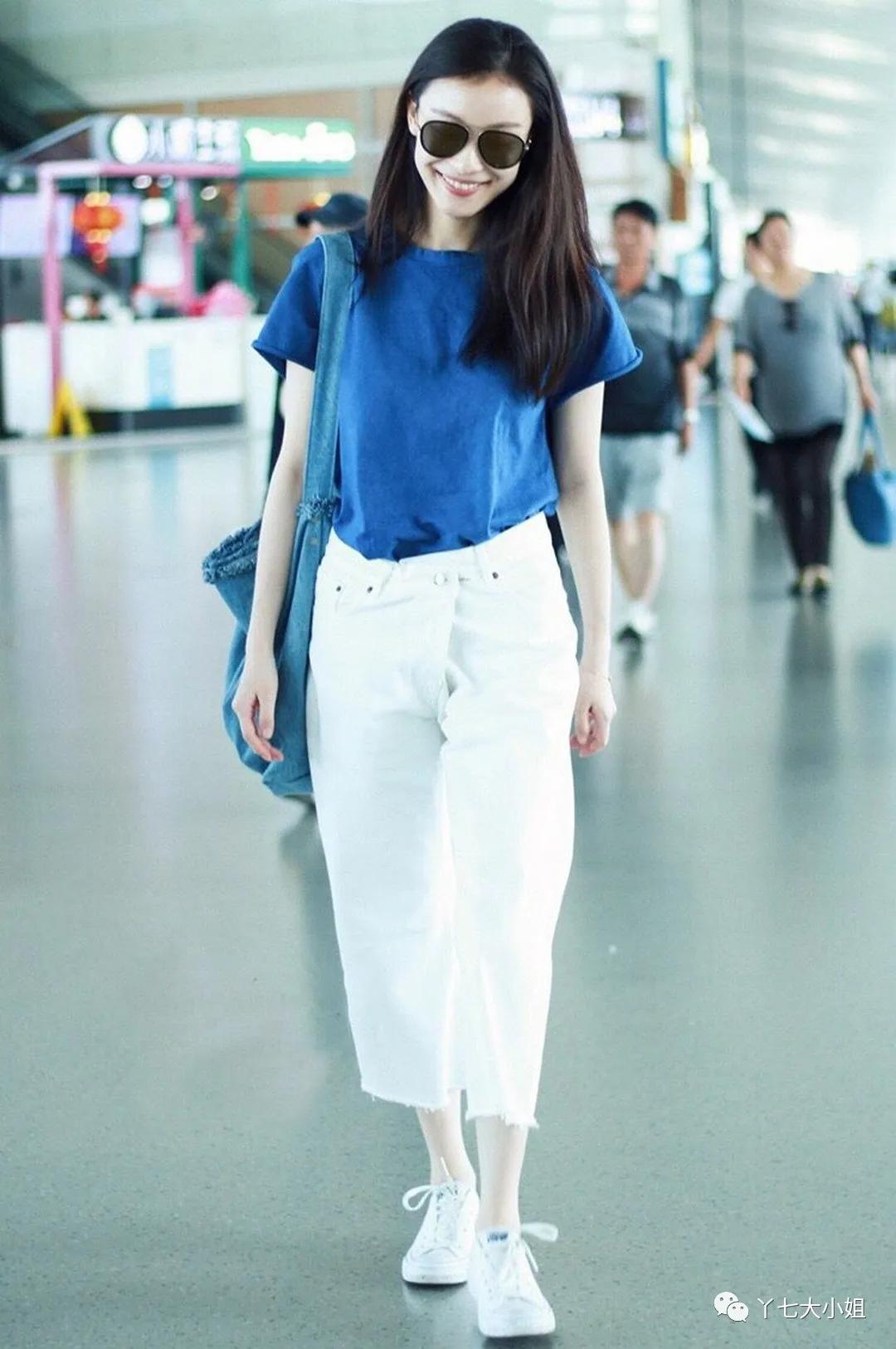 夏季一定要穿上藍色,顯白、顯氣質又降溫