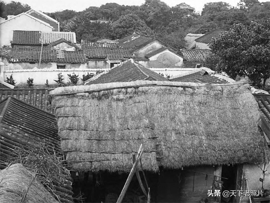 1932年广东雷州老照片  90年前的雷州古城墙及街景