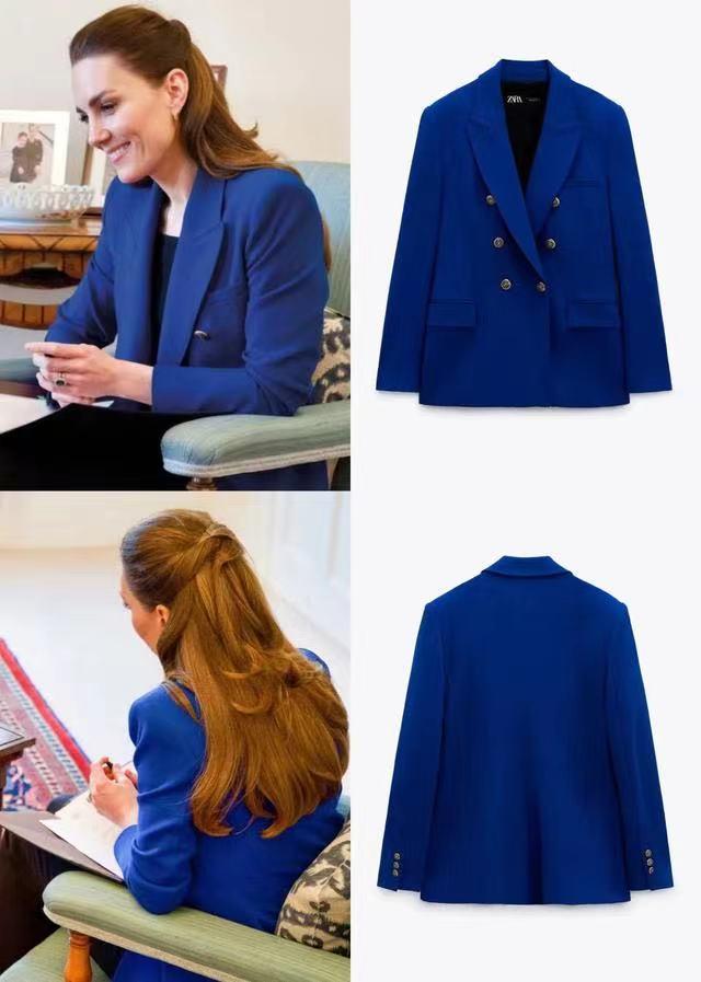 凯特又让1个平价服饰走红!穿100美元西装上视频,却有蓝血贵族范