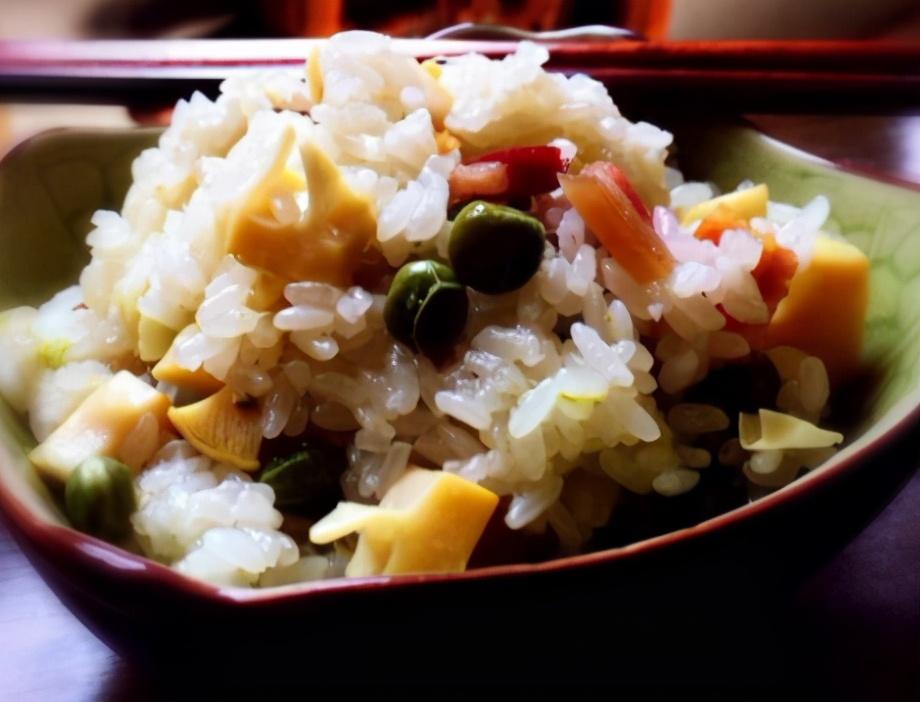 豌豆糯米饭的做法步骤图 全家人更健康