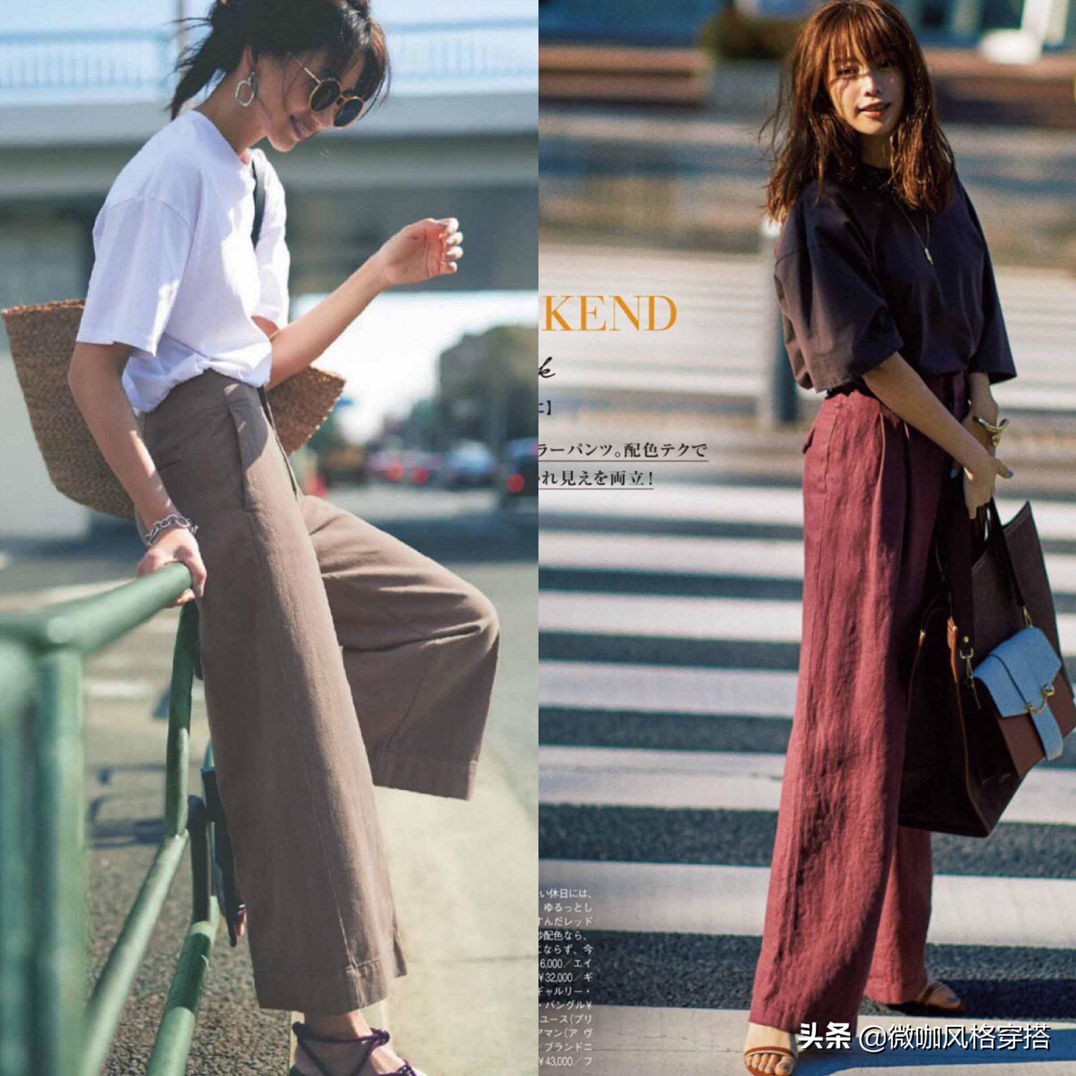 """炎天穿阔腿裤很清凉,但要""""穿对于上衣、搭对于鞋子""""能耐详尽时尚"""