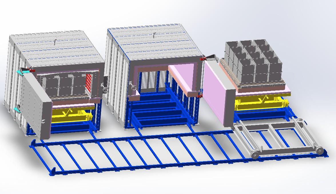 热处理炉3D数模图纸 x_t格式