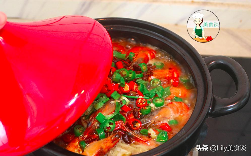 大蝦這樣吃最過癮,比水煮入味,比油炸健康,燜一燜,3分鐘出鍋