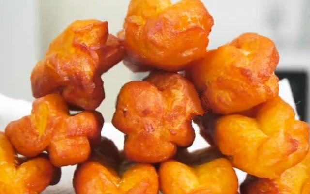 炸红薯油条做法蓬松酥脆 怎么吃都不腻