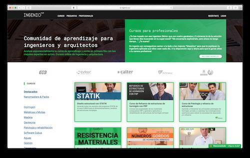 工程与建筑行业在线学习平台Ingenio.xyz