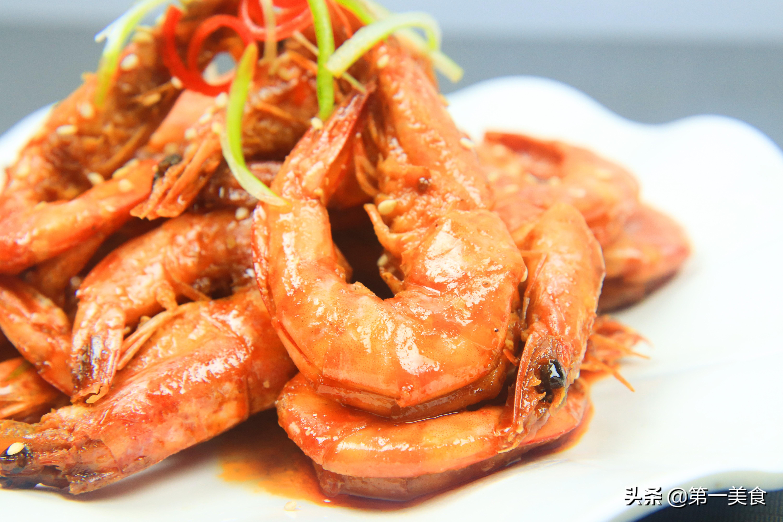 """美味诱人的油焖大虾就做好了。 <img alt=""""油焖大虾家常美味做法"""