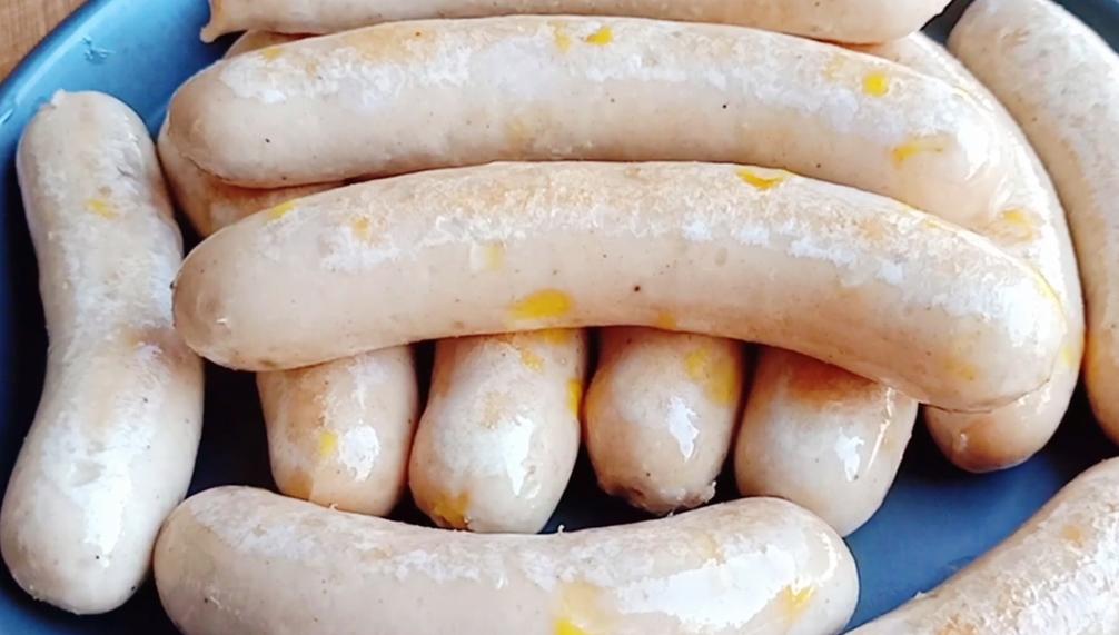自制玉米鸡肉肠,Q弹筋道,无添加,做法特简单,大人小孩都爱吃