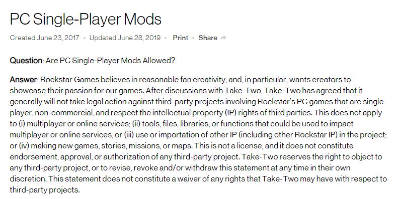 GTA母公司向MOD制作者发难,玩家因担忧下线有14年历史的MOD