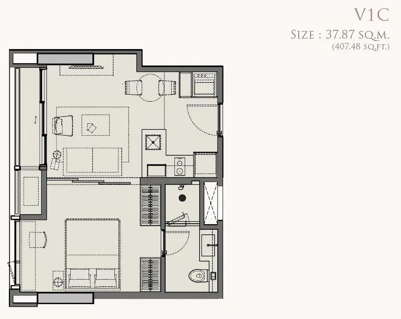 曼谷新CBD拉抛区双轨交汇高奢公寓   The Crest Park Residences