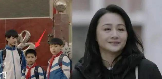 曹颖10岁儿子近照曝光,眉清目秀五官精致,继承了父母所有优点