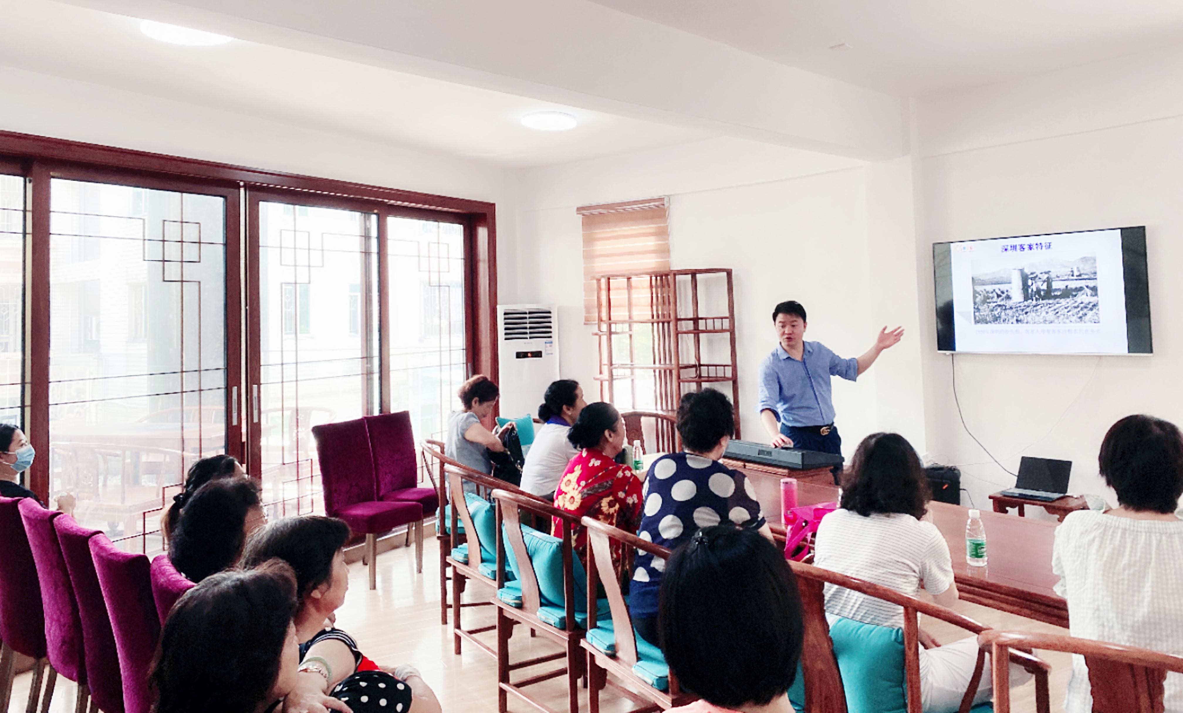 标题:陈善宝受邀赴中英街为深港客家山歌合唱团授课