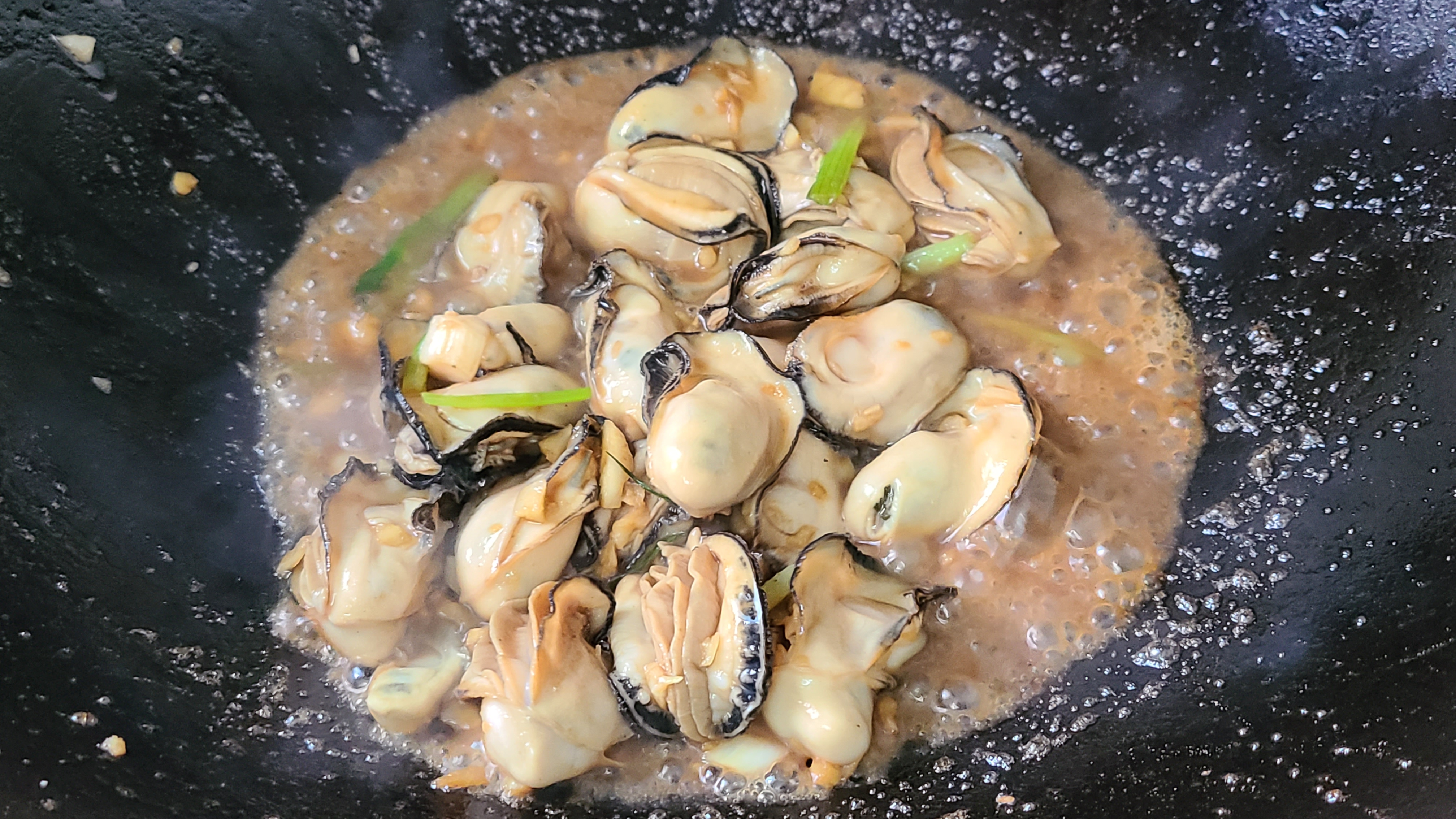广式炒生蚝原来这么好吃,家常做法味道鲜美,看着就馋了 美食做法 第9张