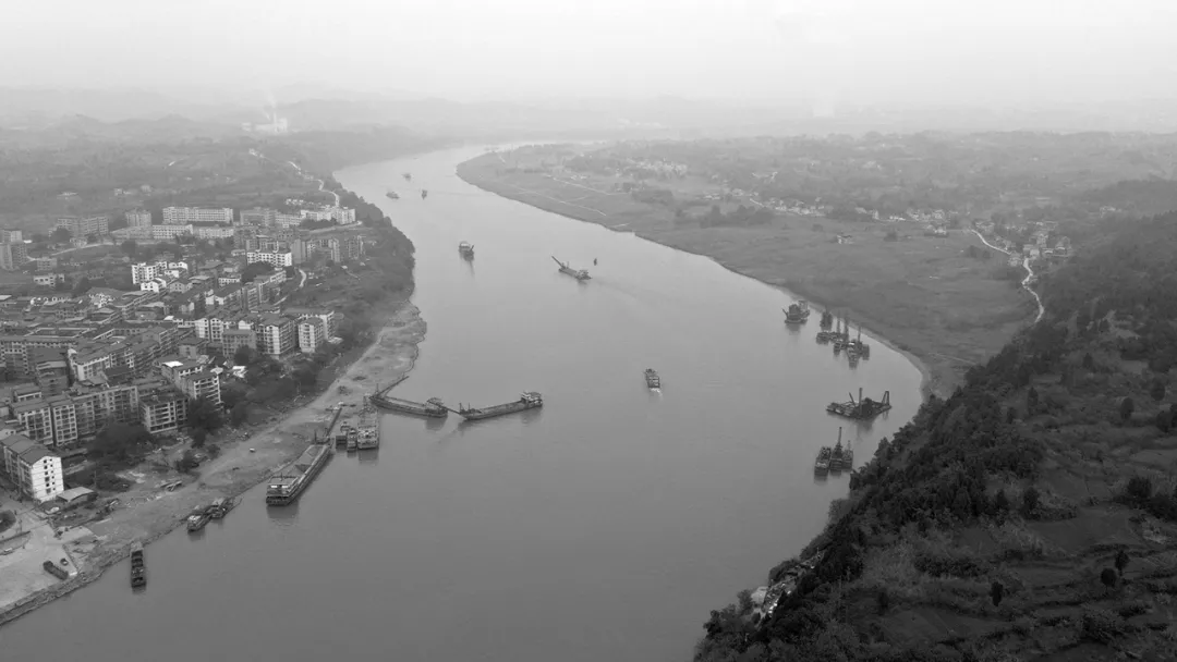 津门网王少梅:两岸-李渡码头