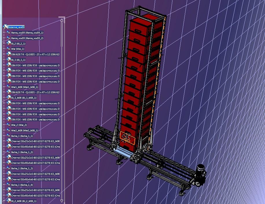 塑料框输送设备3D数模图纸 STP格式
