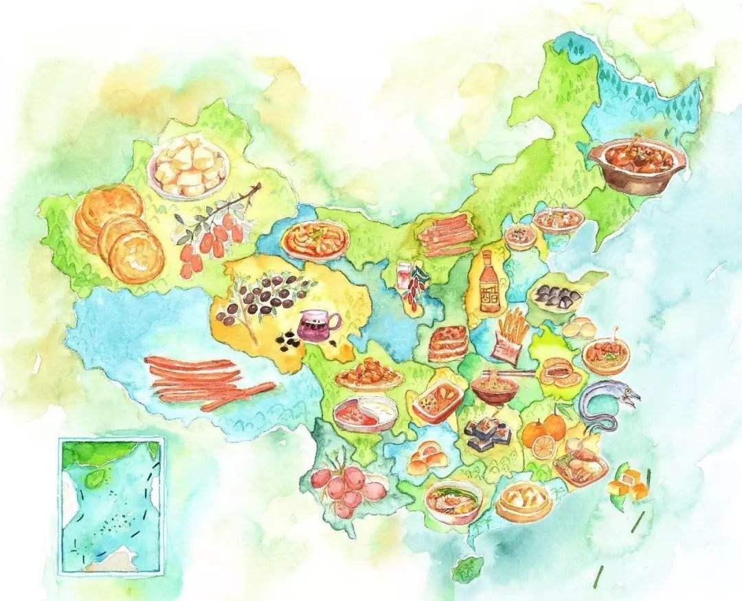 吃遍中国!中国美食地图,看这篇就够了~