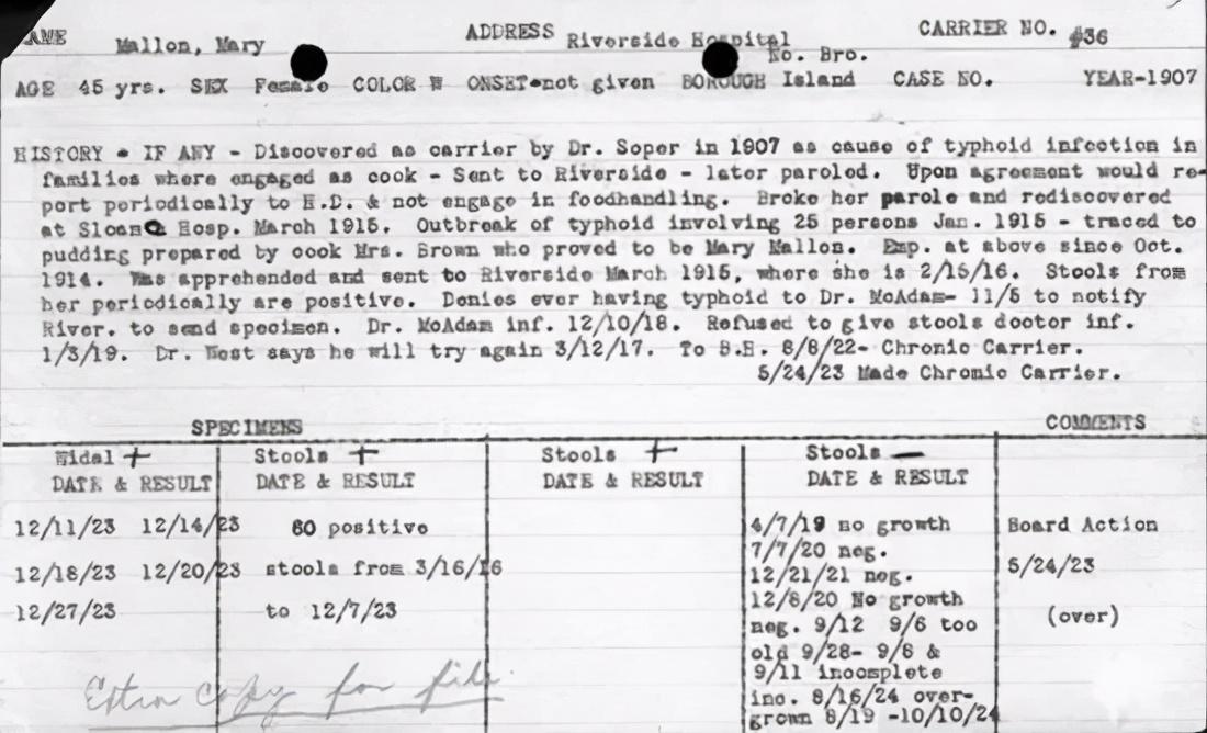 """最早的無症狀感染者是怎麼發現的?100年前恐怖的""""傷寒瑪麗"""""""