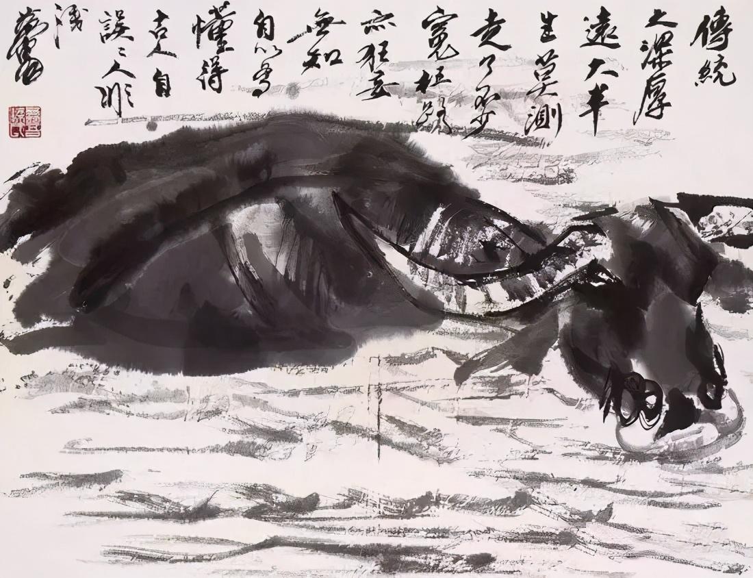 李可染与黄胄画牛:两种风格,一样的牛