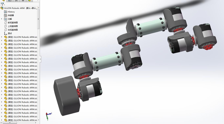 gluon多轴机械臂3D数模图纸 x_t格式