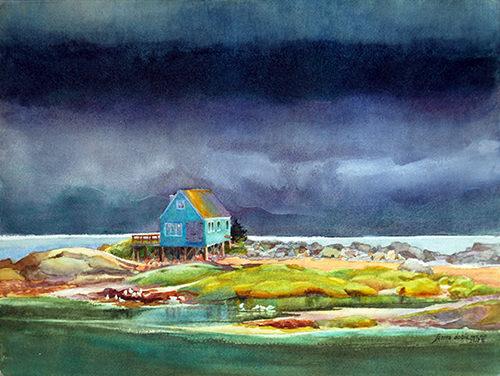 艺术家景观水彩画作欣赏:用画笔捕捉光效和自然的色彩