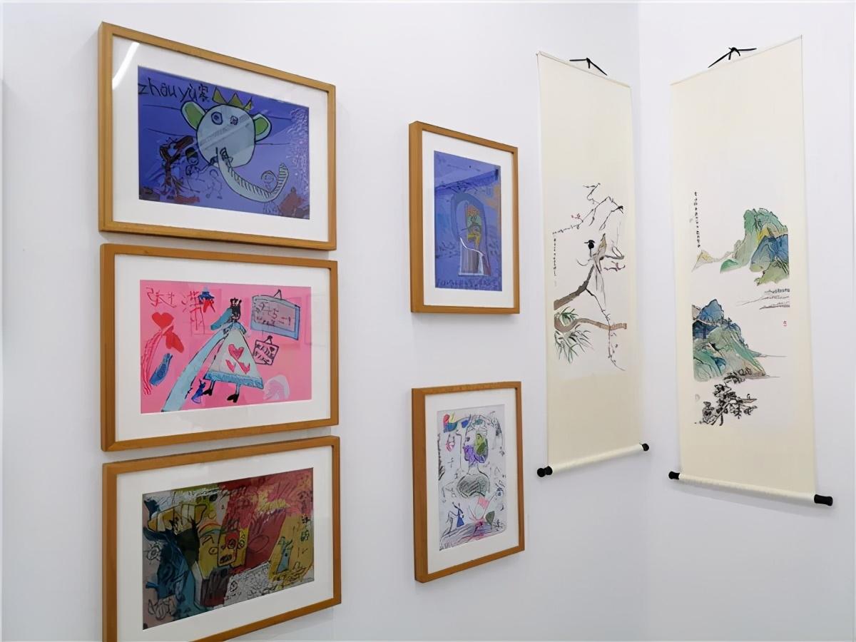赤子之心——少儿迎春书画展在798瀚艺术空间开幕 