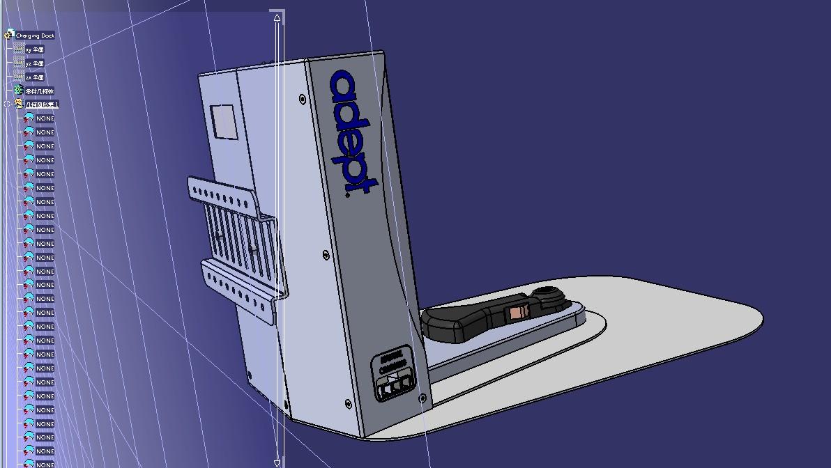 omron ld AGV小车充电站3D数模图纸 STEP格式