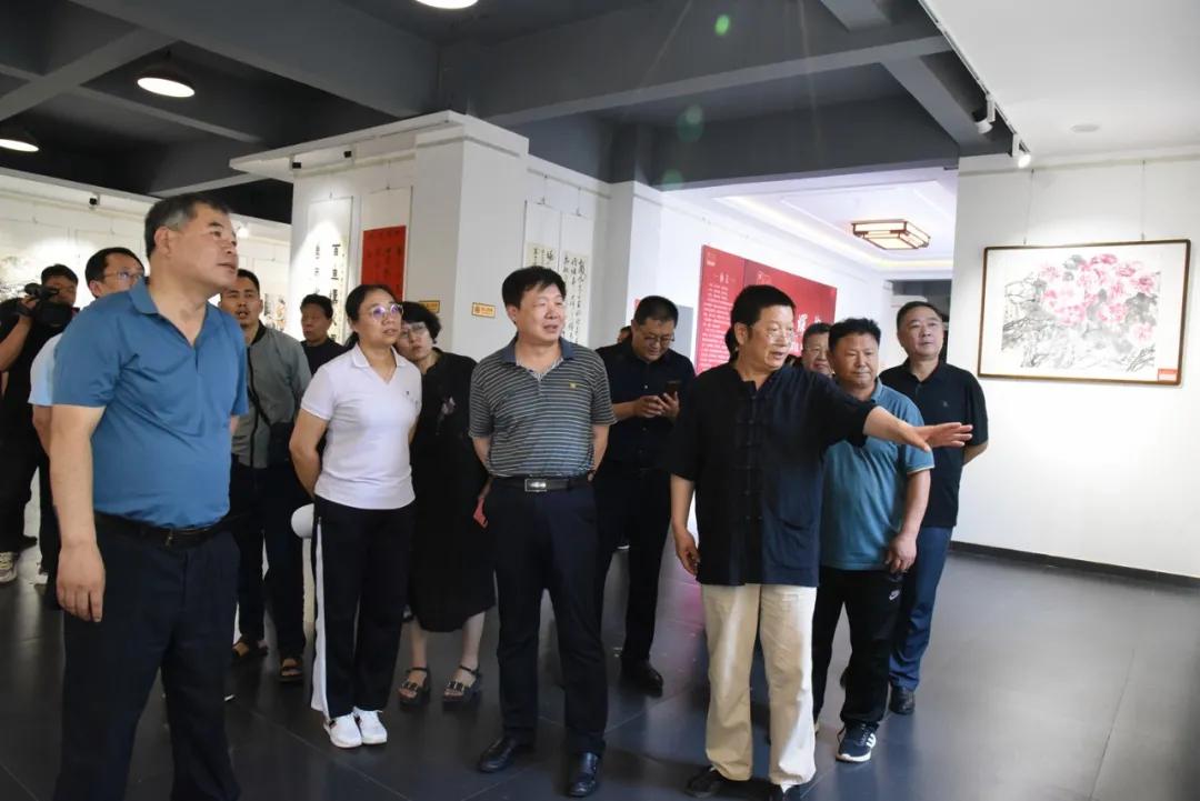 邯郸市庆祝中国共产党成立一百周年文化艺术作品展墨耕园美馆开幕