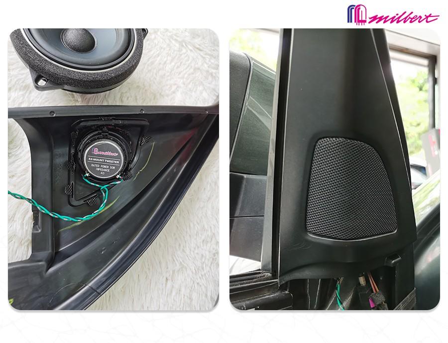 省心省力坐享HI-END声音!宝马X6要改装不如选这套迈博特专用喇叭