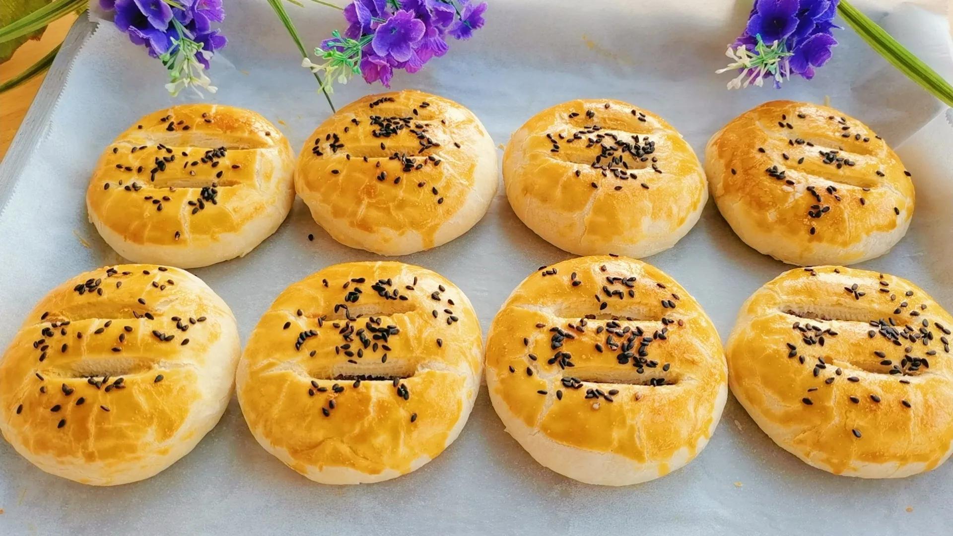 咬一口酥得掉渣的紫薯酥饼,制作简单又好吃,当零食早餐都不错 美食做法 第25张